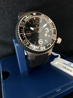 Kienzle Zegarek ze skórzanym paskiem czarny-w kolorze różowego złota Metal