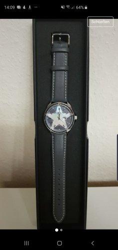 Thomas Rath Montre avec bracelet en cuir gris