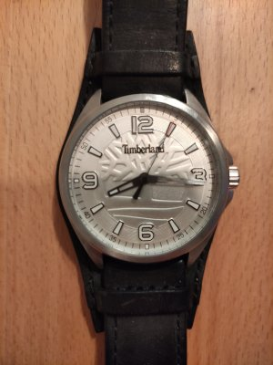 Timberland Horloge met lederen riempje zwart-zilver