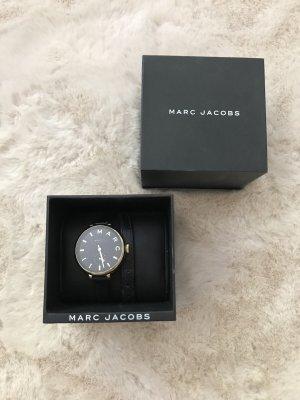 Marc by Marc Jacobs Reloj con pulsera de cuero negro-color oro