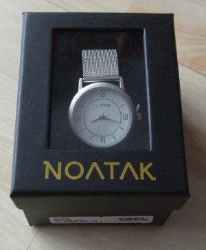 Noatak Zegarek z metalowym paskiem srebrny