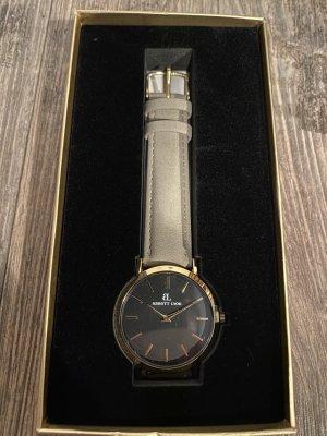 About Lyon Reloj analógico beige claro metal