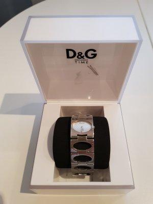 D&G Zegarek z metalowym paskiem srebrny