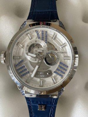 Orologio automatico argento-blu