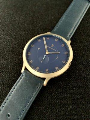 Lilienthal Berlin Montre avec bracelet en cuir doré-bleu foncé cuir