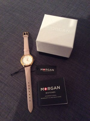 Morgan Watch With Leather Strap multicolored leather