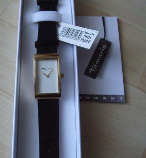 Tamaris Montre avec bracelet en cuir noir