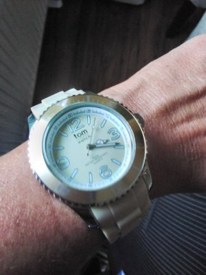 tom watch Montre analogue beige clair