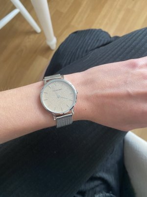 Victoria Grey Watch With Metal Strap silver-colored