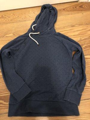 armedangels Hooded Sweater dark blue-black cotton