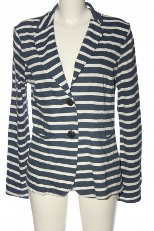 armed angles Short Blazer blue-white striped pattern casual look