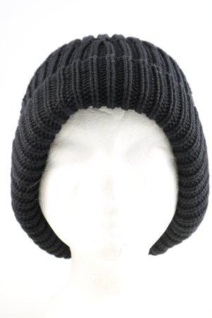 armed angles Chapeau en tricot noir style décontracté