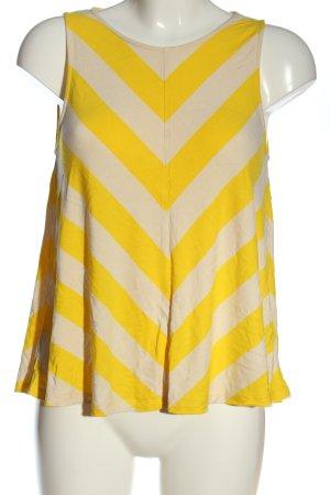 Armedangels A Line Top cream-primrose striped pattern casual look