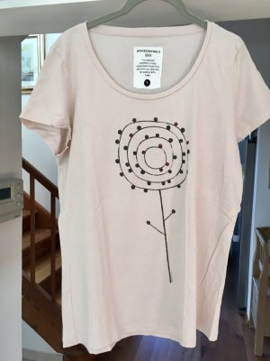 armed angles T-shirt rose chair-vieux rose
