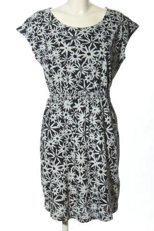 armedangels Abito blusa nero-bianco stampa integrale stile casual
