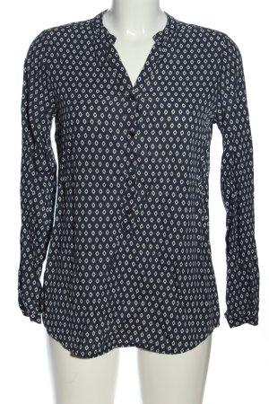 armedangels Hemd-Bluse blau-weiß Allover-Druck Casual-Look