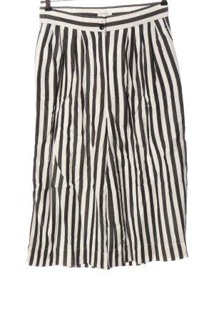 armedangels Hoge taille broek zwart-wit gestreept patroon casual uitstraling