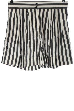 armedangels Hot Pants weiß-schwarz Streifenmuster Casual-Look