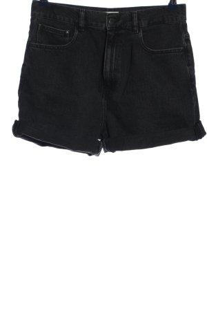 armedangels Pantaloncino di jeans nero stile casual