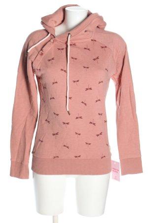 armedangels Felpa con cappuccio rosa motivo grafico stile casual