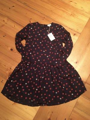 Armedangels Kleid dunkelblau mit Punkten Größe S