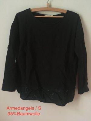 armedangels Long Sweater black cotton