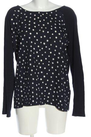 armedangels Langarm-Bluse schwarz-weiß Punktemuster Casual-Look