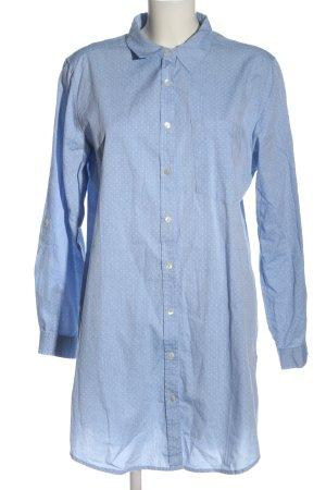 Armedangels Shirt met lange mouwen blauw-wit volledige print casual uitstraling