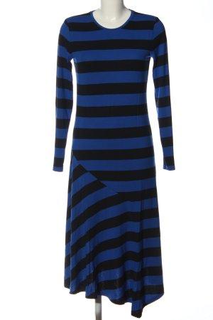 armedangels Jurk met lange mouwen blauw-zwart gestreept patroon