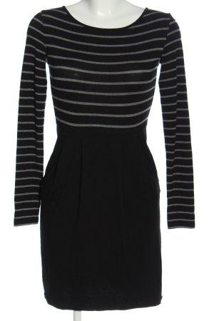 armedangels Longsleeve Dress black-light grey striped pattern casual look