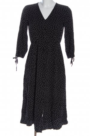 Armedangels Midi Dress black-white spot pattern casual look