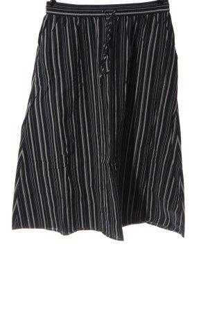 armedangels Jupe mi-longue noir-blanc motif rayé style décontracté