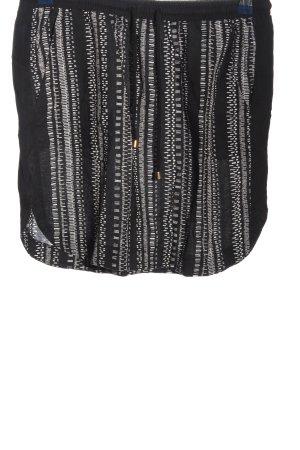 armedangels Mini rok zwart-wolwit volledige print casual uitstraling
