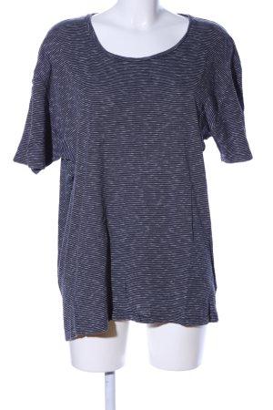 armedangels Maglione oversize blu-bianco motivo a righe stile casual