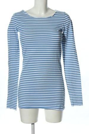 armedangels Ringelshirt blau-weiß Streifenmuster Casual-Look