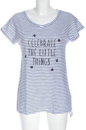 Armedangels Stripe Shirt white-black printed lettering casual look