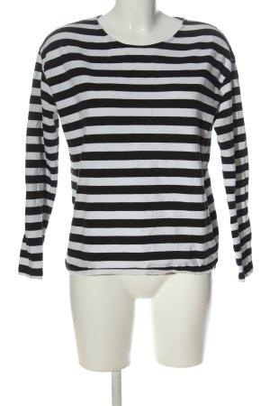 armedangels Ringelshirt weiß-schwarz Streifenmuster Casual-Look