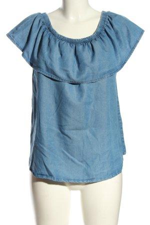 armedangels Camicetta con arricciature blu stile casual