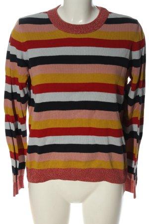 armedangels Kraagloze sweater gestreept patroon casual uitstraling