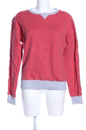 armedangels Crewneck Sweater red-light grey flecked casual look
