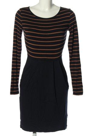 armedangels Shirtkleid schwarz-hellorange Streifenmuster Business-Look