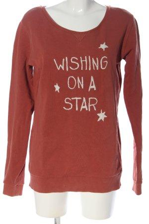 armedangels Sweatshirt rot Schriftzug gestickt Casual-Look