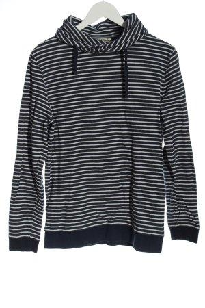 Armedangels Sweatshirt zwart-wit gestreept patroon casual uitstraling