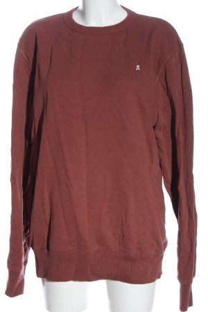 Armedangels Sweatshirt rouge lettrage brodé style décontracté