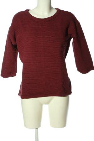 Armedangels Sweat Shirt red striped pattern casual look