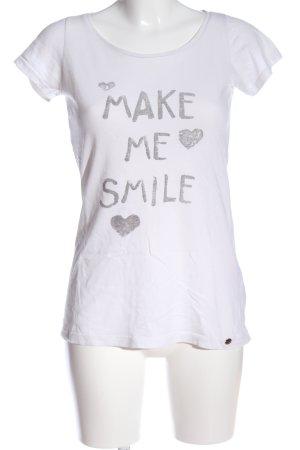 armedangels T-Shirt weiß Schriftzug gedruckt Casual-Look