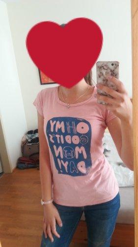 armedangels Shirt met print roze-staalblauw