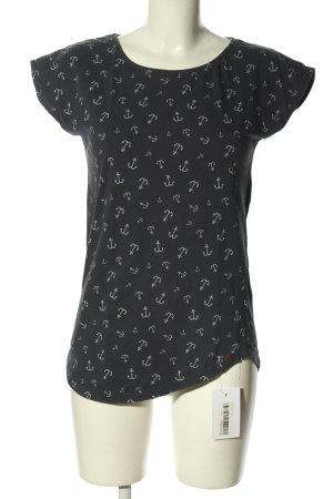 armedangels T-shirt nero-grigio chiaro stampa integrale stile casual