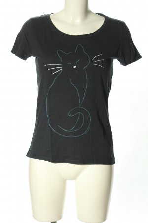 armedangels T-shirt nero Stampa a tema stile casual