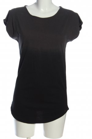 armedangels T-Shirt schwarz-braun Farbverlauf Casual-Look